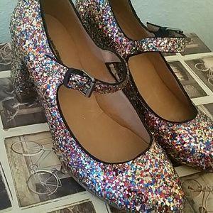 0b2a118051ea Madewell Shoes - Madewell Zelda Glitter pumps